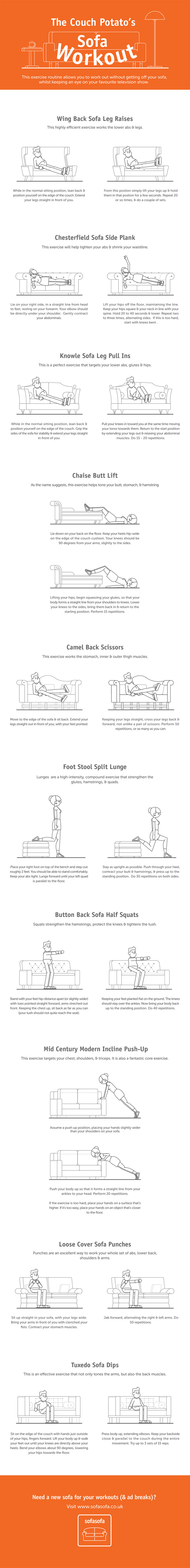 The Couch Potato's Sofa Workout