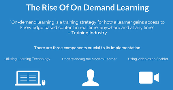 The Rise Of On Demand Learning